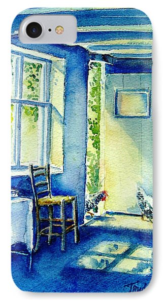 IPhone Case featuring the painting Summer Morning Visitors  by Trudi Doyle