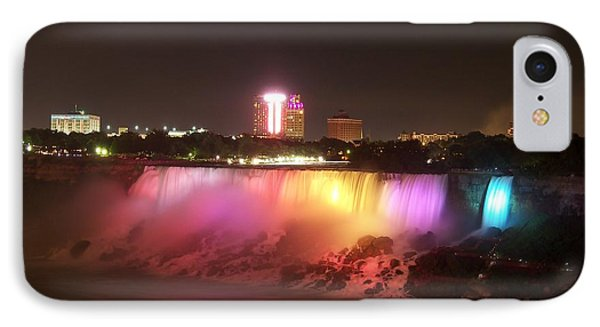 Summer Night In Niagara Falls IPhone Case by Lingfai Leung