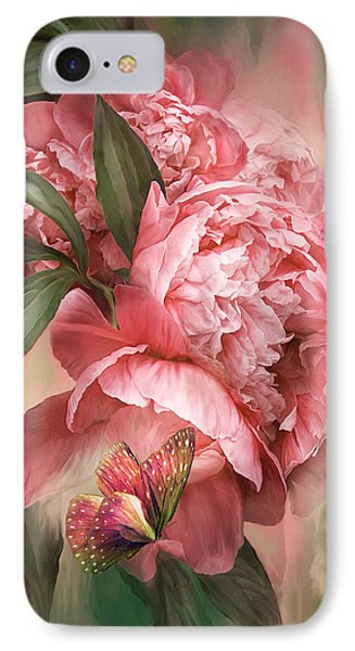 Summer Peony - Melon Phone Case by Carol Cavalaris
