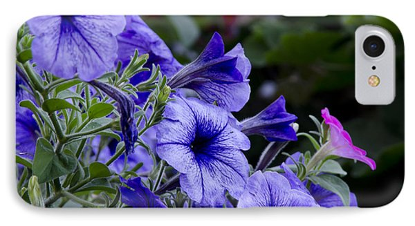 IPhone Case featuring the photograph Summer Petunias by Wilma  Birdwell