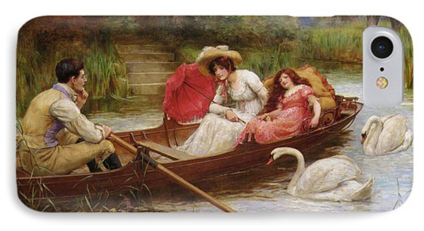 Summer Pleasures On The River Phone Case by George Sheridan Knowles