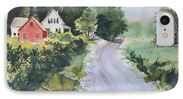 IPhone Case featuring the painting Summer Road by Joy Nichols