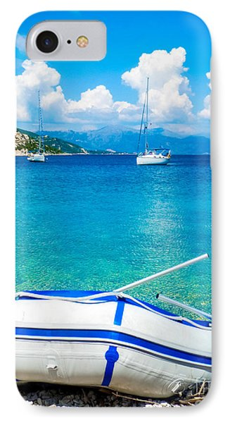 Summer Sailing In The Med IPhone Case by Peta Thames