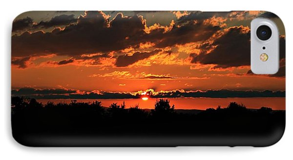 IPhone Case featuring the photograph Summer Silhouette Sunset by Candice Trimble