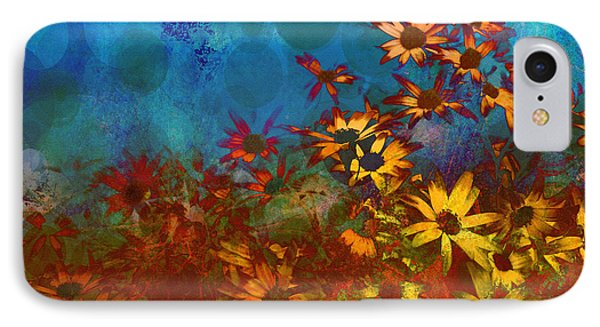 Summer Sizzle Abstract Flower Art Phone Case by Ann Powell