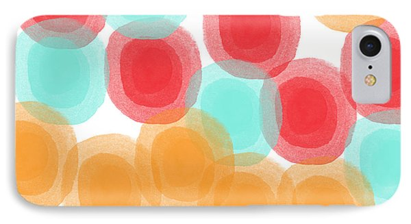 Summer Sorbet- Abstract Painting IPhone Case by Linda Woods