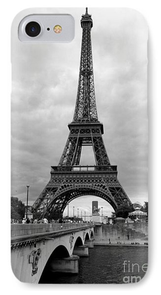 Summer Storm Over The Eiffel Tower Phone Case by Carol Groenen