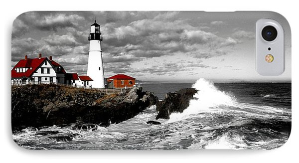 Summer Waves Red Stroke Bw IPhone Case