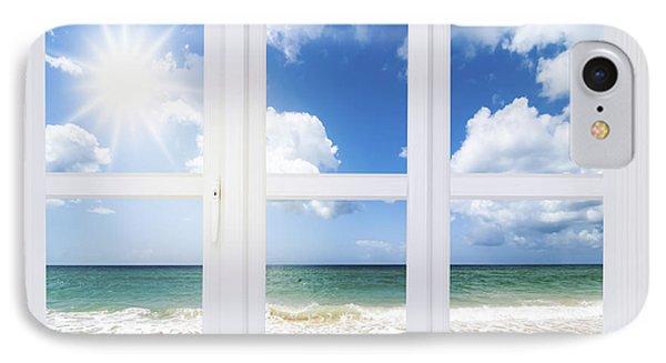 Summer Window IPhone Case by Amanda Elwell
