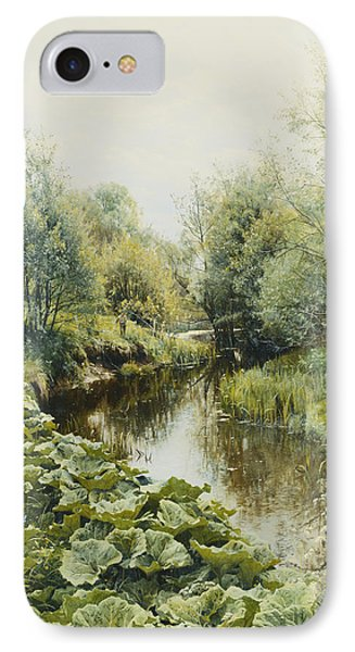 Summerday At The Stream Phone Case by Peder Monsted