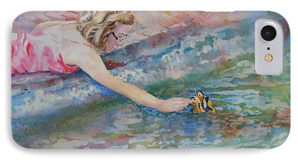 IPhone Case featuring the painting Summer's Day by Mary Haley-Rocks