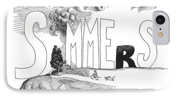 Summers Without You Are Short And Dark IPhone Case by Saul Steinberg