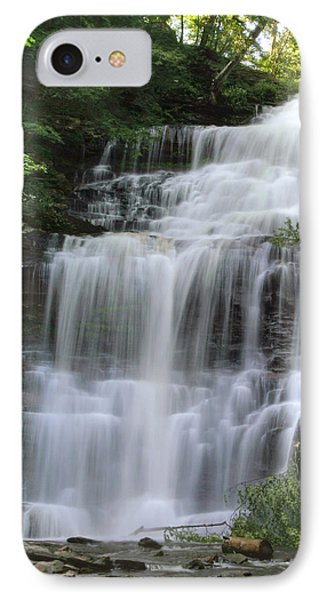 IPhone Case featuring the photograph Summertime At Ganoga Falls In Rickett's Glen by Gene Walls