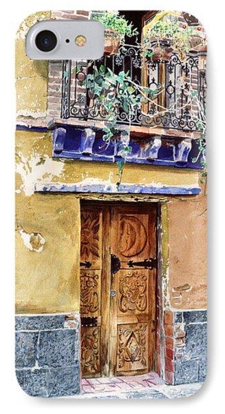 Sun And Moon Door Coyocan IPhone Case by David Lloyd Glover