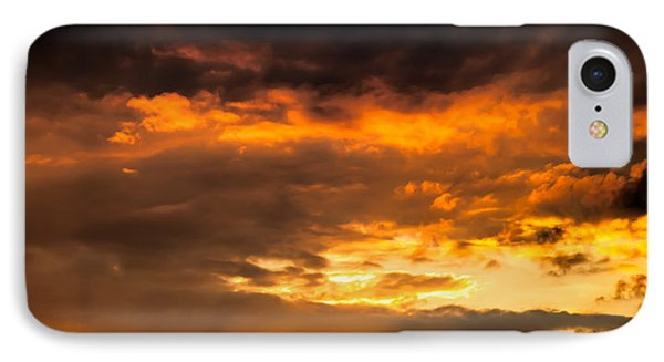 Sun Beams And Clouds Phone Case by Optical Playground By MP Ray