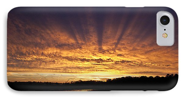 IPhone Case featuring the digital art Sun Blast by David Davies