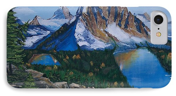 IPhone Case featuring the painting Sun Burst Peak by Sharon Duguay