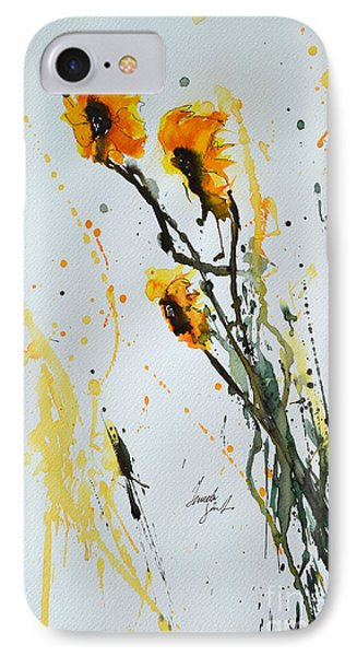 Sun-childs- Flower Painting Phone Case by Ismeta Gruenwald