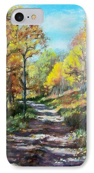 Sun Dappled Path IPhone Case by Bonnie Mason