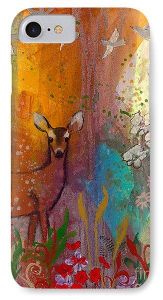 Sun Deer IPhone Case by Robin Maria Pedrero