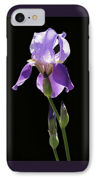Sun-drenched Iris IPhone Case by Rona Black