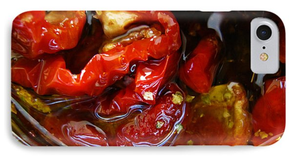 Sun Dried Tomatoes In Olive Oil IPhone Case by Alexandros Daskalakis