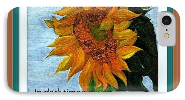 IPhone Case featuring the painting Sun Flower by Denise Tomasura