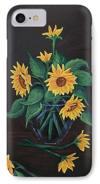 IPhone Case featuring the painting Sun Flowers  by Sharon Duguay