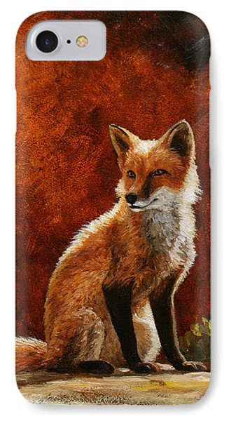Sun Fox IPhone Case by Crista Forest