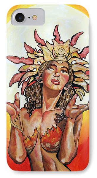 Sun Goddess Of Vallejo Phone Case by Lorinda Fore