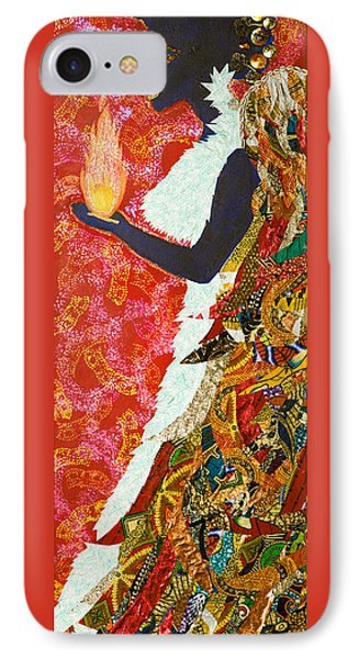 IPhone Case featuring the tapestry - textile Sun Guardian - The Keeper Of The Universe by Apanaki Temitayo M