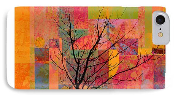 Sun In The City - Abstract - Art  Phone Case by Ann Powell