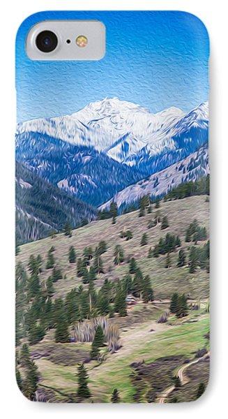 Sun Mountain View Of Mt Gardner In Springtime Phone Case by Omaste Witkowski