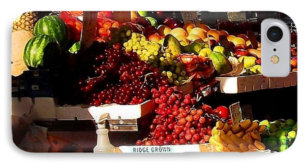 IPhone Case featuring the photograph Sun On Fruit Close Up by Miriam Danar