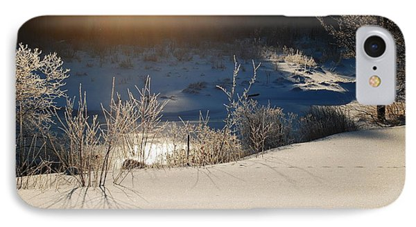 IPhone Case featuring the photograph Sun On Snow by Mim White