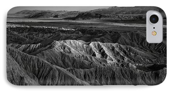 Sun On The Borrego Badlands IPhone Case by Peter Tellone