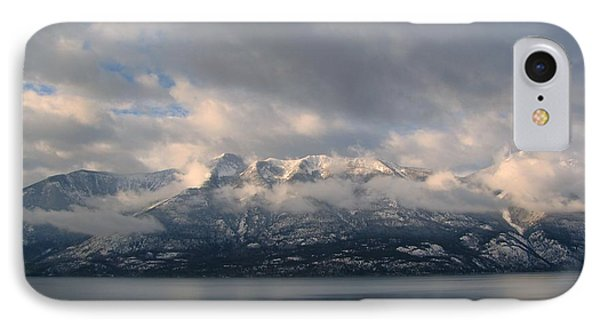Sun On The Mountains IPhone Case by Leone Lund