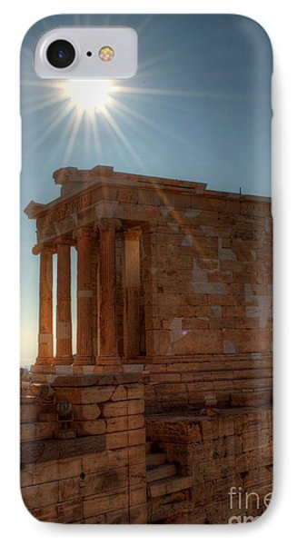 Sun Over Athena Nike Temple Phone Case by Deborah Smolinske
