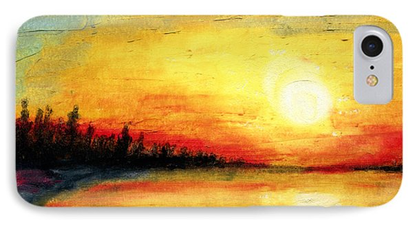 Sun Over The Lake IPhone Case by R Kyllo