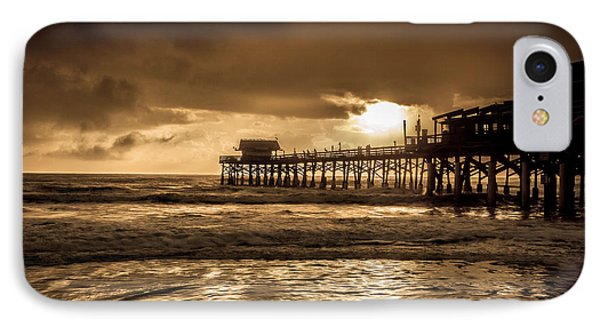 Sun Over The Pier IPhone Case by Steven Reed