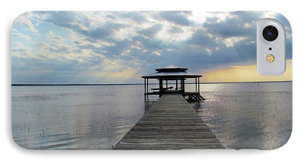 IPhone Case featuring the photograph Sun Rays On The Lake by Cynthia Guinn