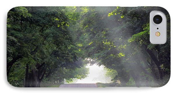Sun Rays On Waters End Road IPhone Case