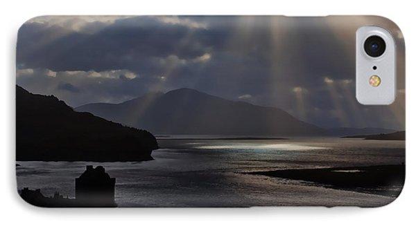 Sun Rays Over Eilean Donan Castle IPhone Case