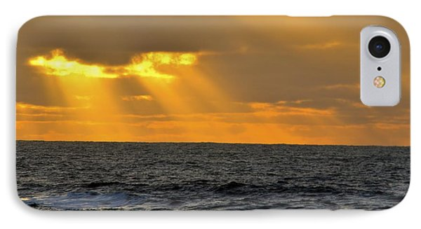 IPhone Case featuring the photograph Sun Rays Through The Clouds by Alex King