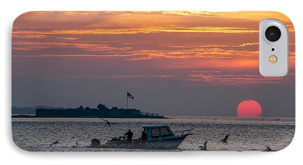 Sun Rise Over Fort Sumter IPhone Case