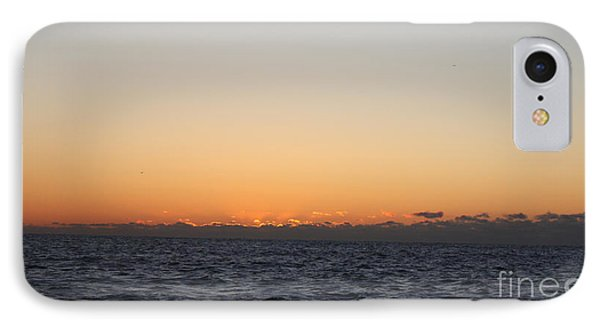 Sun Rising Above Clouds And Horizon Phone Case by John Telfer