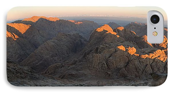 IPhone Case featuring the photograph Sun Rising On Sinai - Wide Angle Panorama by Julis Simo