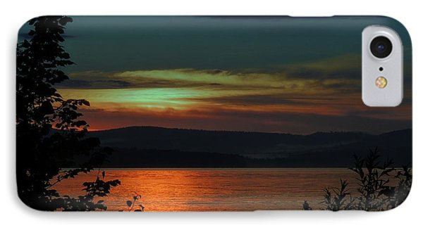 Sun Sets On Winnisquam IPhone Case by Mim White