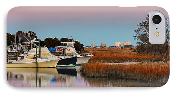IPhone Case featuring the photograph Sun Setting At Murrells Inlet by Kathy Baccari