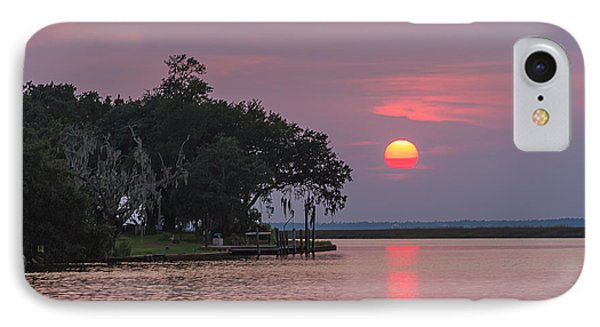 Sun Setting In The Bayou IPhone Case by Brian Wright